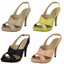LADIES ANNE MICHELLE SLING BACK WOMENS SUMMER PEEP TOE STRAPPY SANDALS F10411