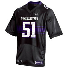 Northwestern Wildcats Youth Replica Football Jersey - Black #51