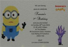 Minions Despicable Me Personalised Birthday Party Invites Or Thank You A6 Cards