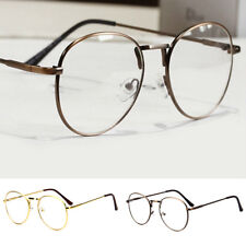 Retro Unisex Men Women Nerd Glasses Clear Lens Oversized Eyewear Metal Frame