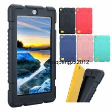 """Shockproof Safe Silicone Case Cover Skin For 7"""" Amazon Kindle Fire 7 2017+Film"""