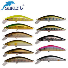Smart 55mm/4.6g Minnow Lures Sinking VMC Hook Artificial Lure Hard Fishing Bait