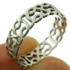 Celtic Knot band Silver Ring, MIX US SIZE, Plain Solid Sterling Silver, rp643