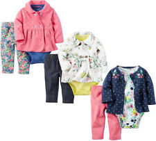 New Carters Newborn 3 6 9 12 18 24 Month Cardigan Set Outfit Baby Girl Clothes