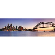 Abstract Stretched Canvas Print Wall Art Sydney from Kirribilli (long)