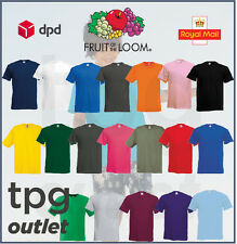 1 or 5 FOTL Childrens Plain T Shirt 100% Cotton Kids School T-Shirt All Ages Lot