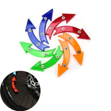 Bicycle Wheel Spoke Reflective Reflector Arrow Shape Cycling Safe Warning light@