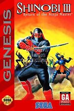 RGC Huge Poster - Shinobi III Return of Ninja Master Sega Genesis BOX ART SEG014