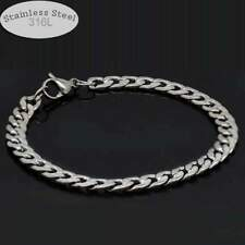 Stainless Steel 316L 6mm Mens Gothic Style Chain Bracelet