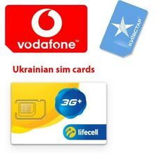 New Prepaid SIM Card Ukraine Networks ACTIVATED Vodafone / Lifecell / Kyivstar