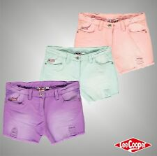 Junior Girls Designer Lee Cooper Stylish Vintage Look Denim Coloured Shorts