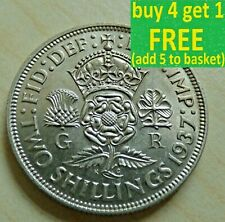 George VI Florin/ Two Shillings Silver Coins Choose your date 1937-1951 ...