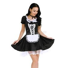 Women French Maid Halloween Costume Lingerie Cosplay Outfit Fancy Dress Uniform