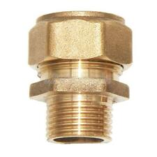 Compression Brass Barbed Straight Thread Fitting Aluminum Pipe Male Connector