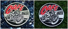 CAFE RACER Moto Bike Triumph Ton Up Patch Iron Embroidered Applique Sew Badge[2]