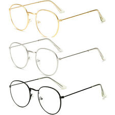 Oval Round Lens Slim Metal Frame Clear lens Fashion Glasses Mens Womens Party