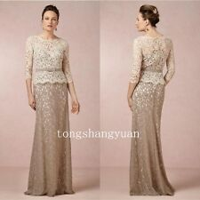 Floor Length Wedding Mother of the Bride/Groom Dress Lace Formal Gowns Plus Size