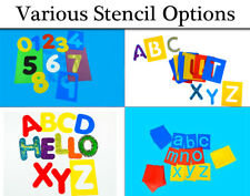 Washable Alphabet Letters and Numbers - Stencils for Kids | Kids Craft Stencils