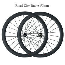 700C Carbon Cyclocross Disc Brake Wheelset 50mm clincher Carbon Bicycle Wheelset