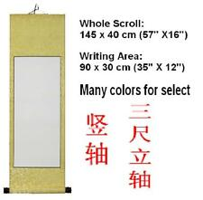 "Empty Blank Chinese Japanese Calligraphy Painting Paper Silk Wall Scroll 47""X16"""