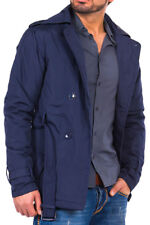 NEW Tazzio Fashion Jacket Men Trench Coat Mantle Winter Jacket Outdoor Blue 8003