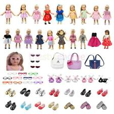 Magideal Fashion Clothes Dress Shoes Bags Glasses For 18'' American Girl Doll