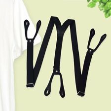 Unisex Elastic Y-Shape Braces Mens Womens Adjustable Pants Clip-on Suspenders