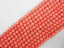 Nice Pink Coral Gemstone Smooth Round Loose Beads Size 4mm/6mm/8mm/10mm
