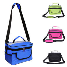 Portable Thermal Shoulder Picnic Cooler Insulated Lunch Bag Storage Box Tote