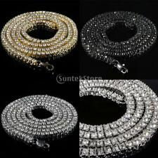 "Magideal Men's Iced Out Single Row Crystal Hip Hop Tennis Chain Necklace 20"" 30"""