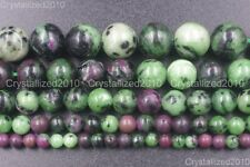 Natural Ruby In Zoisite Gemstone Round Beads 4mm 6mm 8mm 10mm 12mm 14mm 15.5''