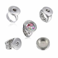 New Fashion DIY Ring Floating Locket Chunk Charm Button For Snap Jewelry Gift