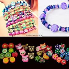 100 PCS Clay Beads DIY Slices Mixed Color Fimo Polymer Clay FT
