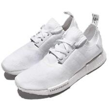 adidas Original NMD_R1 PK PrimeKnit Japanese Triple White Men Sneakers BZ0221