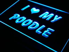 """16""""x12"""" s061-b I Love My Poodle Dog Pet Neon Sign"""