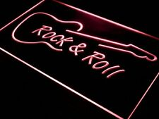"16""x12"" i303-r Rock and Roll Guitar Music NEW Neon Sign"