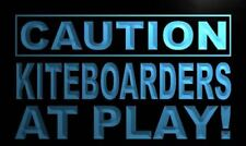 """16""""x12"""" m594-b Caution Kiteboarder at Play Neon Sign"""