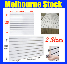 2 SIZES NEW SLATWALL SLAT WALL PANEL SHOP SHELF DISPLAY BOARD WALLS MELB