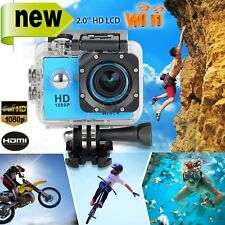 12MP HD 1080P WiFi Sports Waterpoof Camera DV Video Action Helmet Dash Camcorder