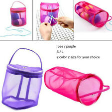 Knitting Mesh Yarn Bags Case Needle Crochet Hook  Bag Pouch Holder Tote  Purple