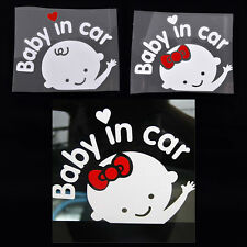Cartoon Car Stickers Reflective Styling Baby In Car Warming Stickers Decal LA