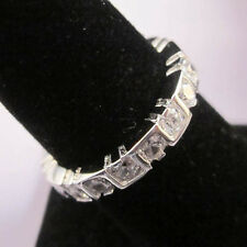 2.8 karat CT 925 STERLING SILVER Channel Setting Eternity Band Ring Sz 5,6,7, 8