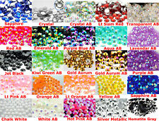 30 Colors! 1000pc HIGHLY POLISHED RESIN 30ss 6mm FLATBACK RHINESTONES/DRAG QUEEN