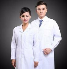 New Mens Womens White Lab Coat Scrub Medical Doctor's Jacket