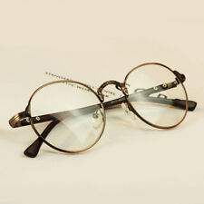 Retro Fashion Elegant Unisex Mens Womens Nerd Eye Glasses Clear Lens Metal Frame