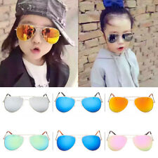 Retro Children Kids Boys Girls Aviator Sunglasses Eyewear Glasses Shades UV400