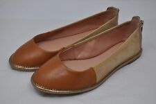 ENZO ANGIOLINI Nation Tan/Brown Suede/Leather Ballet Flats Loafers  (4016)