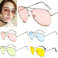 Retro Unisex Vintage Aviator Sunglasses Womens Mens Metal Frame Party Glasses