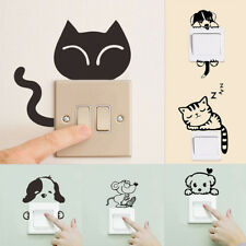 Removable Art Vinyl Quote Cat Dog DIY Wall Sticker Decal Mural Home Room SwitchH