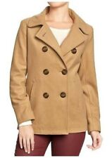 NEW WOMENS 2XL XXL OLD NAVY CLASSIC WOOL BLEND PEACOAT PEA COAT JACKET CARAMEL